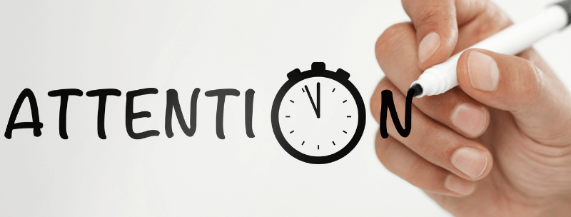 What needs to be managed Time Or Attention