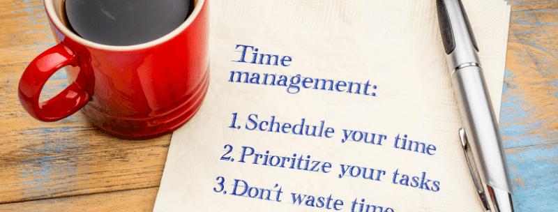time management important in sales